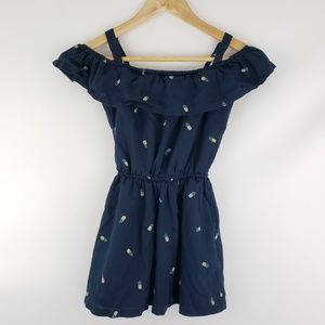 Abercrombie Kids | Girls Navy and Pineapple Dress